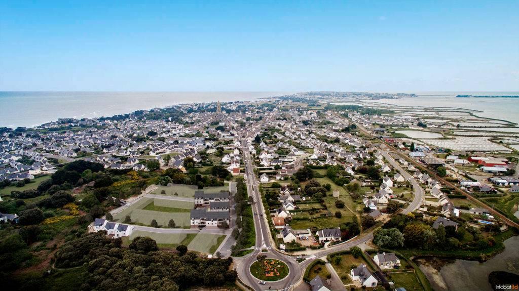 Projection des résidences les Salines sur la commune de Batz-Sur-Mer