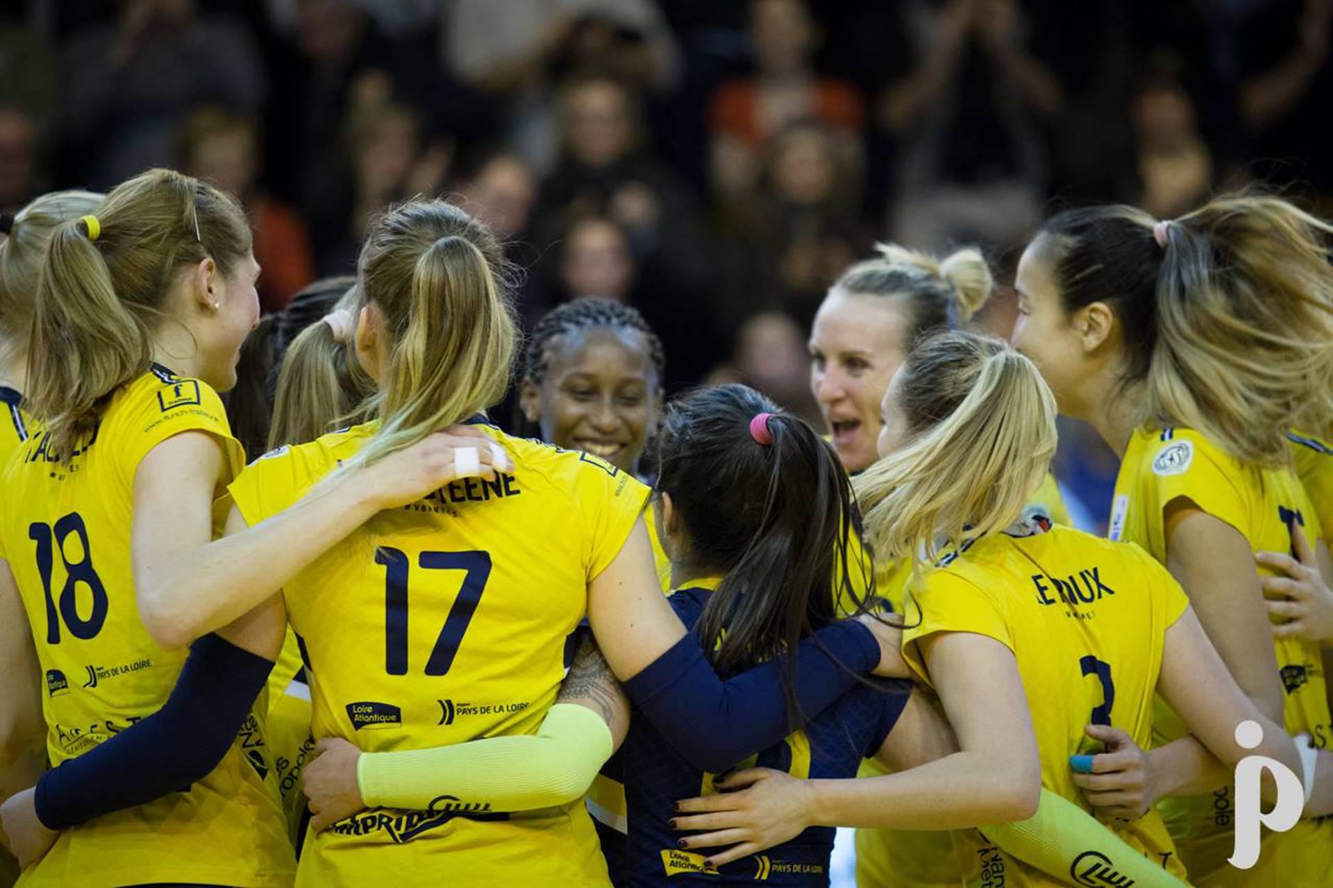 En route pour les demi-finales de la Coupe d'Europe pour les joueuses du Volley Ball Nantes