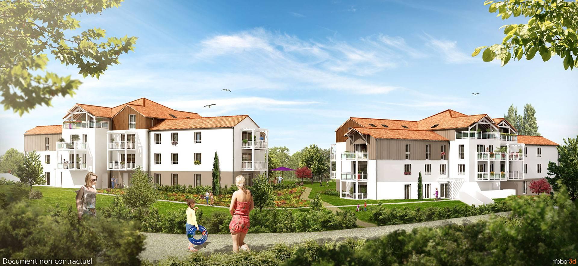 Appartment T1, T2 T3 appartement au cœur de la Ria disponible dans la résidence l'Astrolabe - Groupe Cisn Atlantique